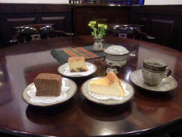 自家製ケーキ三種